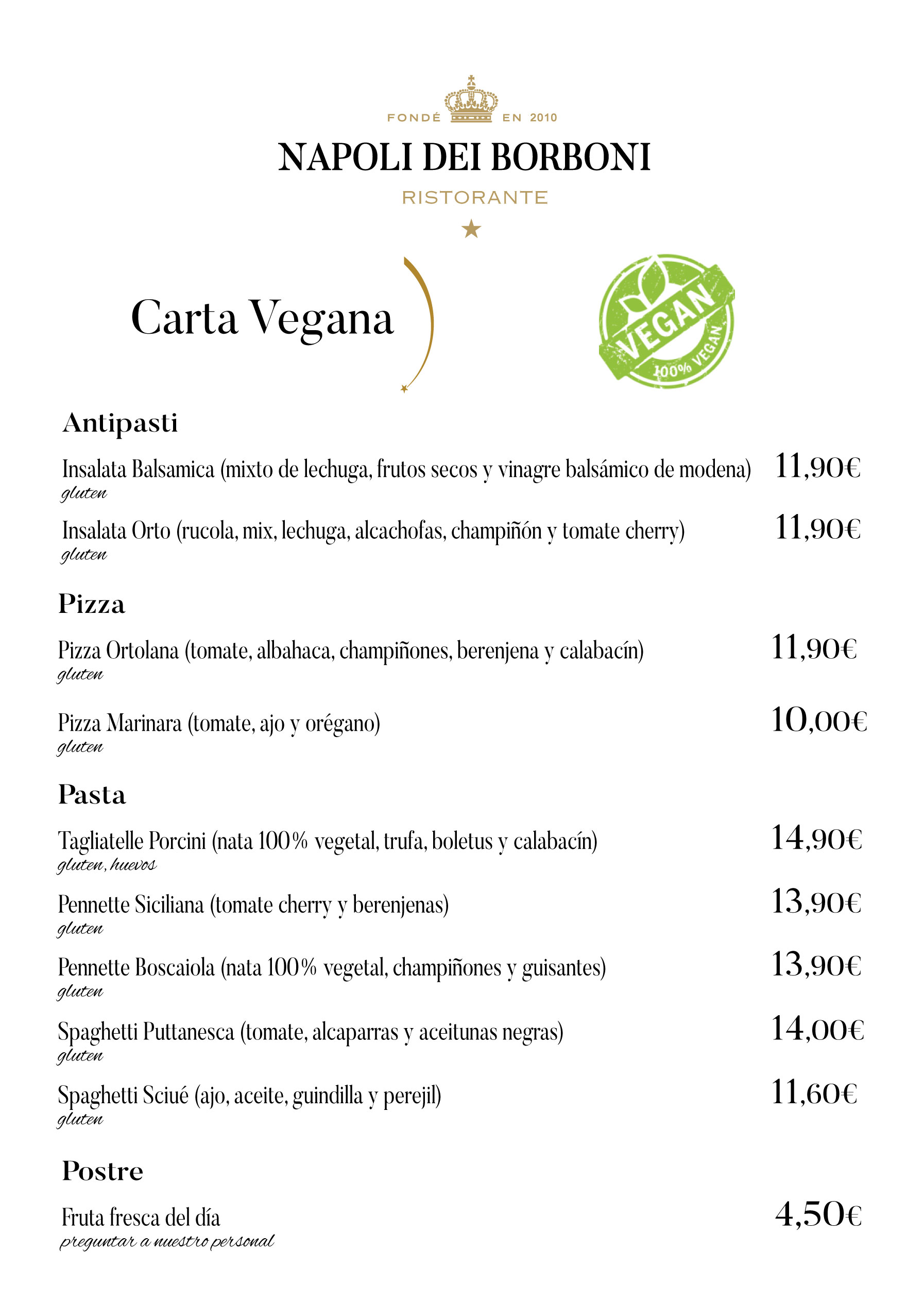 Napoli Dei Borboni Restaurante Italiano En Alcorcón